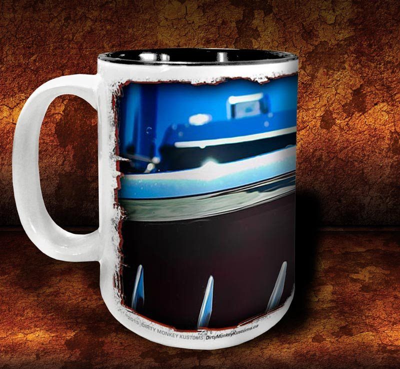 'Big Kenny'  kustom big rig coffee mug - Dirty Monkey Kustoms - 2