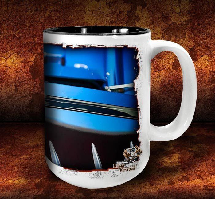 'Big Kenny'  kustom big rig coffee mug - Dirty Monkey Kustoms - 4