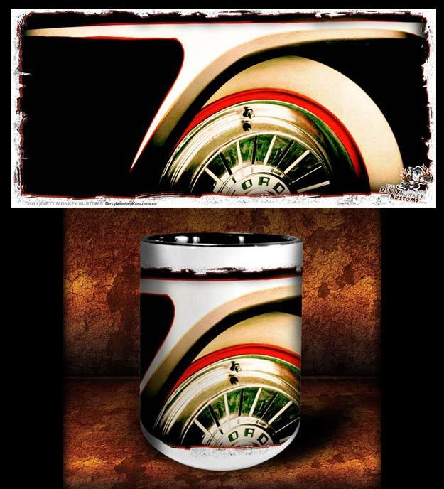 'Customline'   kustom hot rod coffee mug - Dirty Monkey Kustoms - 1