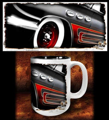 'Any Port'   kustom hot rod coffee mug - Dirty Monkey Kustoms - 1