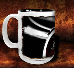 'Any Port'   kustom hot rod coffee mug - Dirty Monkey Kustoms - 2