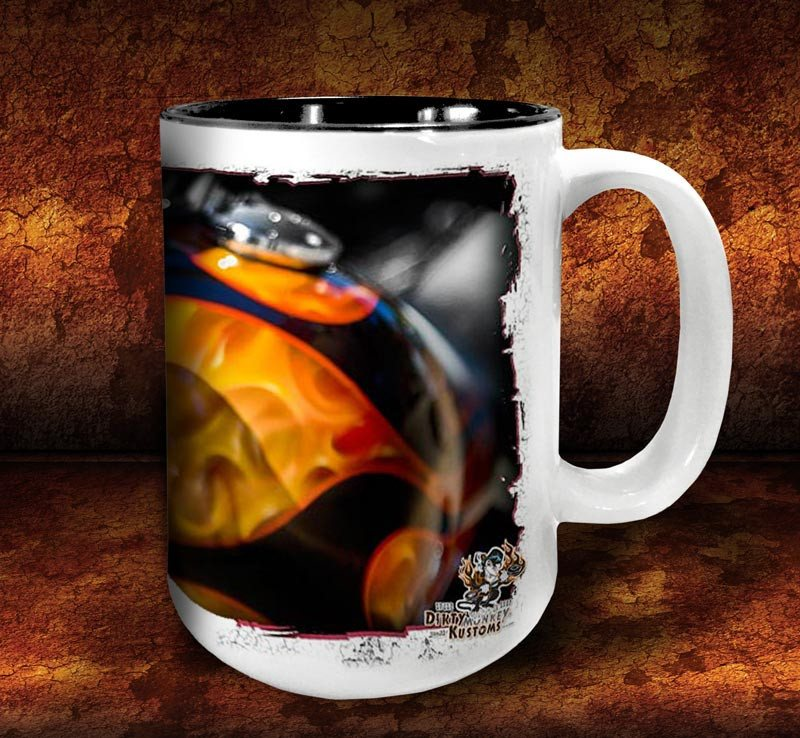 'Evil Twin'  kustom biker coffee mug - Dirty Monkey Kustoms - 4