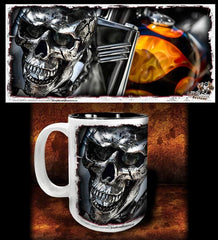 'Evil Twin'  kustom biker coffee mug - Dirty Monkey Kustoms - 1