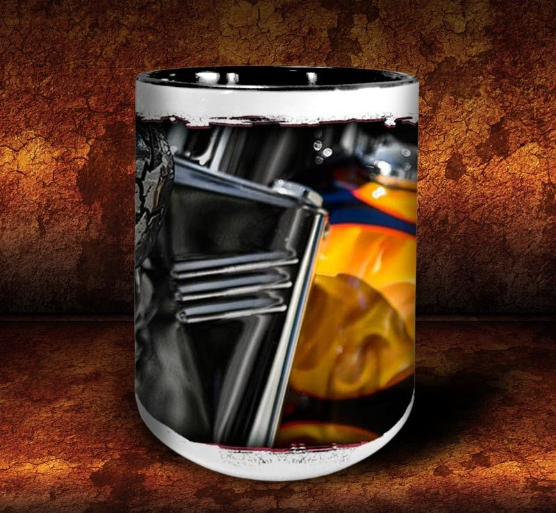 'Evil Twin'  kustom biker coffee mug - Dirty Monkey Kustoms - 3