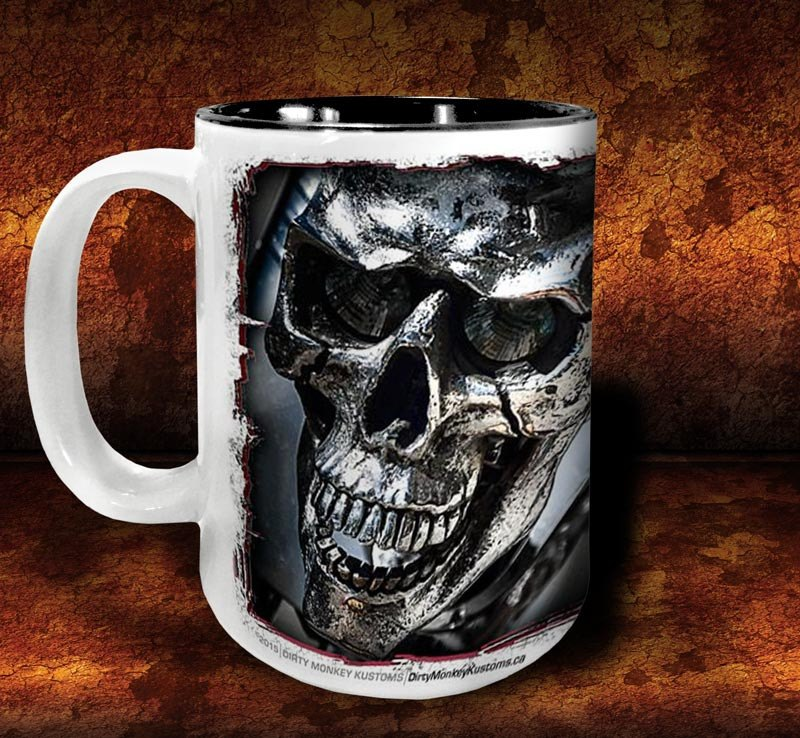 'Evil Twin'  kustom biker coffee mug - Dirty Monkey Kustoms - 2