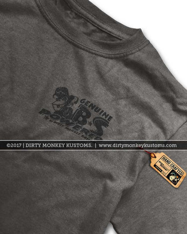 """Dirty Monkey Kustoms"" Speed Shop Retro hotrod t shirts"
