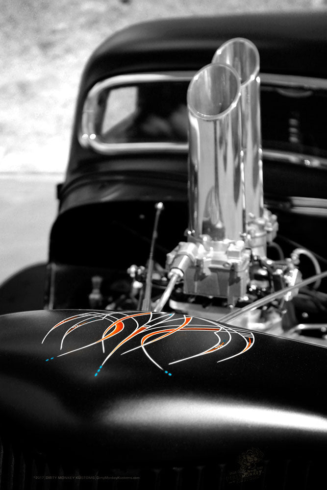 """DOUBLE STACK"" original Hot Rod photo art poster print"