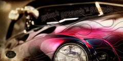 """Flamed Merc"" Hot Rod photo garage banner"