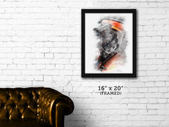 "FRAMED ""Orange Crush 2""  Hot Rod Deuce print"