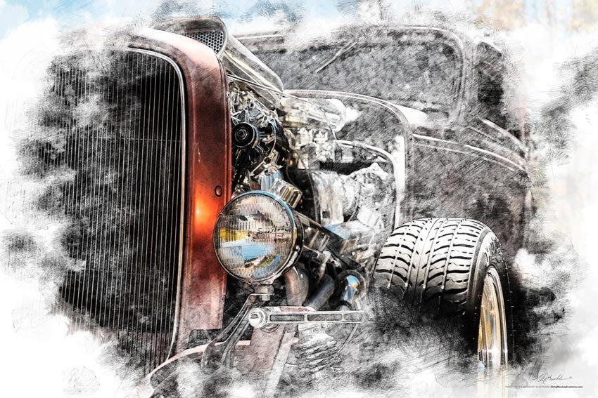 """Amber"" original Hot Rod Deuce photo poster print"