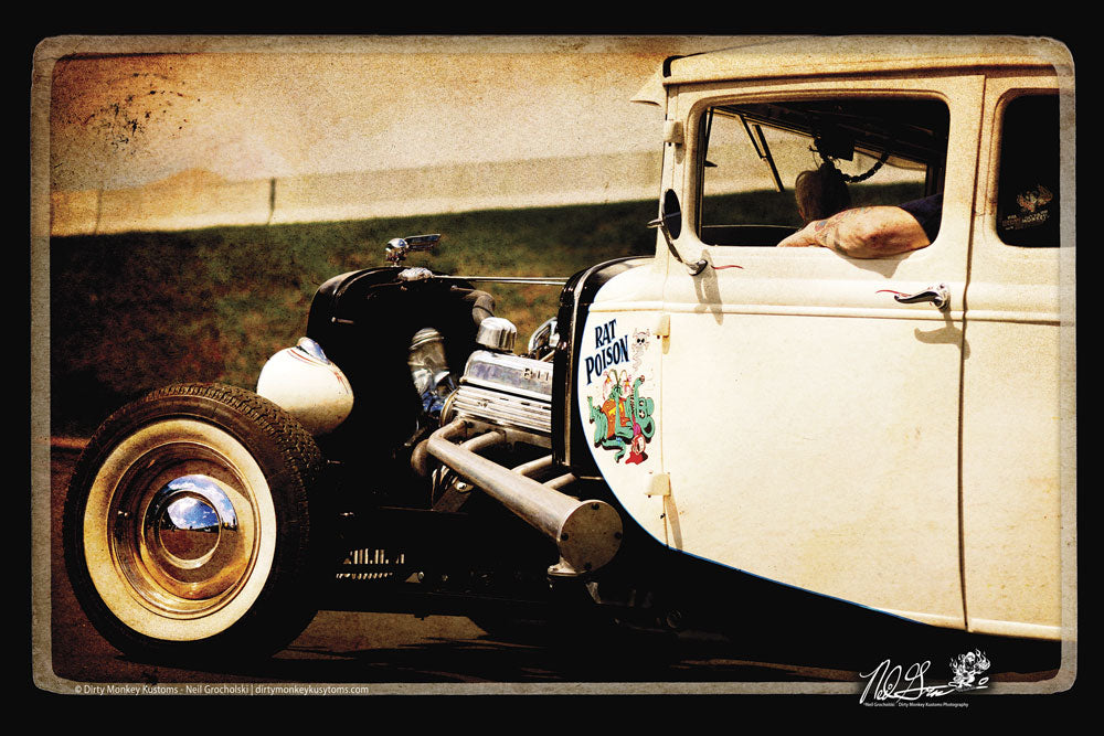 """RAT POISON"" original Hot Rod photo art poster print"