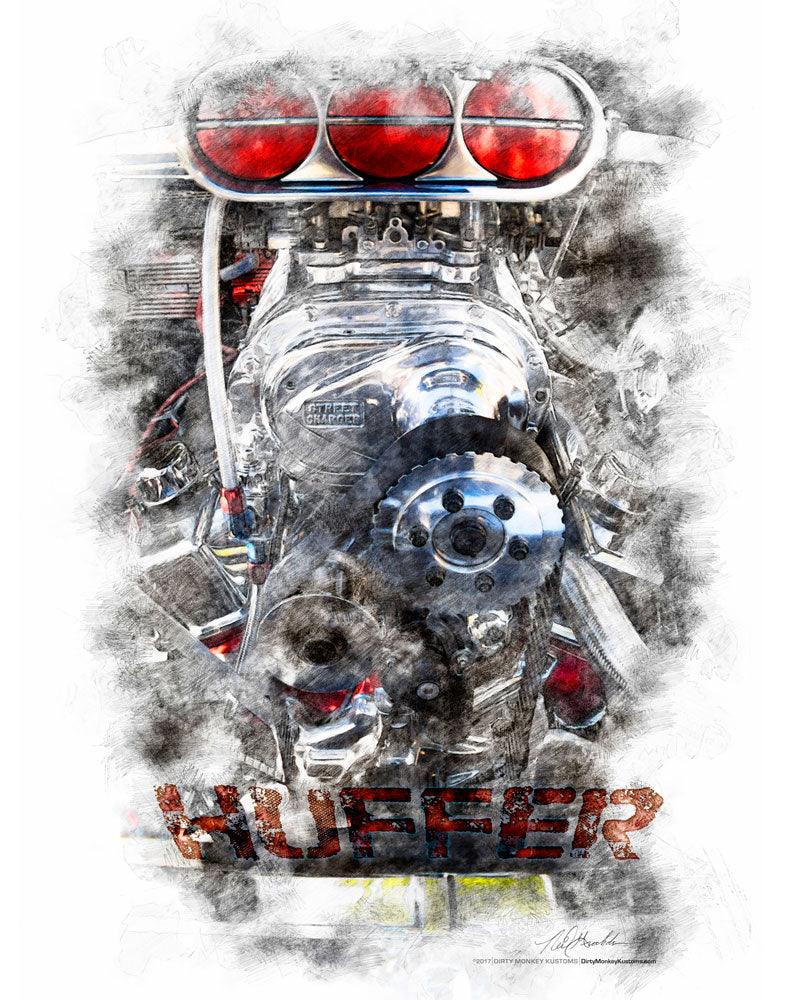 """Huffer"" original Hot Rod photo art poster print"
