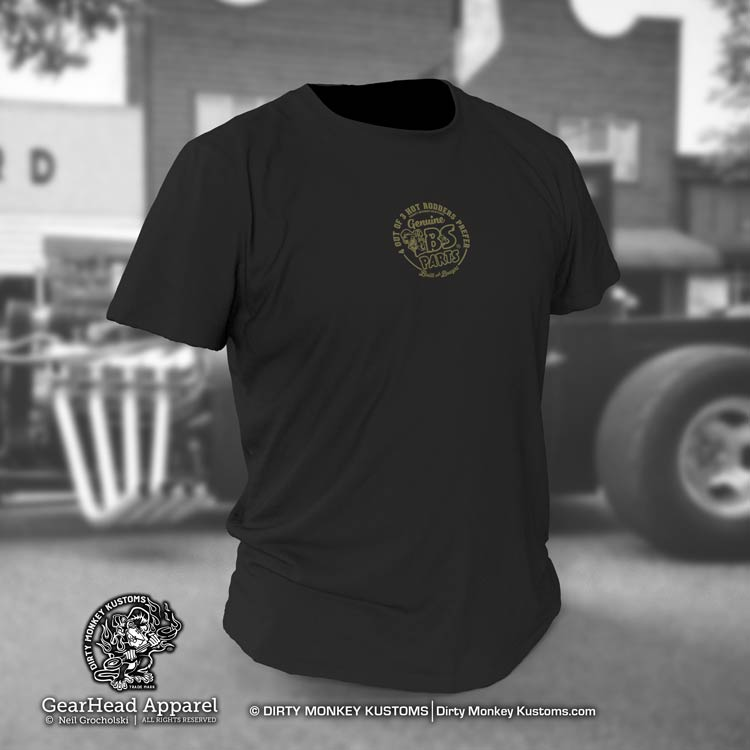 """Stink Eye Pistons"" vintage GearHead hot rodder t shirt"