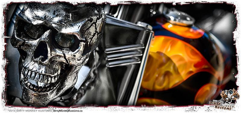 'Evil Twin'  kustom biker coffee mug - Dirty Monkey Kustoms - 5
