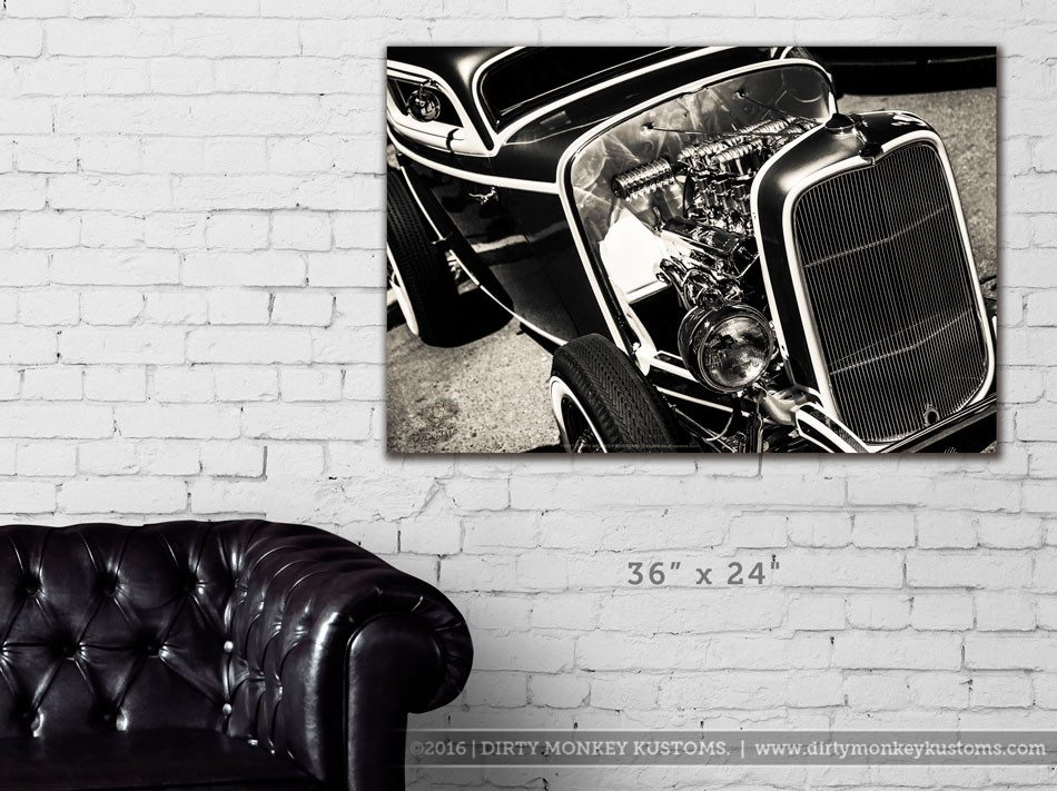 """Deuce Coupe"" Hot Rod Garage Art vinyl print"