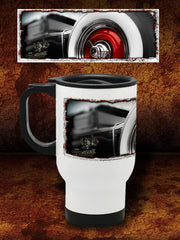 """Big Red""  Kustom Hot Rod Travel Mug"