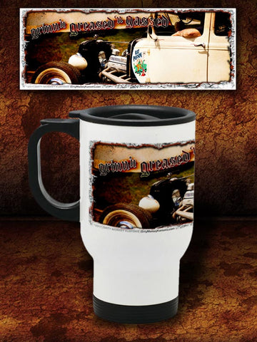 """Rat Poison""  Kustom Hot Rod Travel Mug"