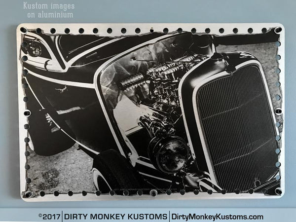 "Metal ""Deuce Coupe"" Perforated Aluminium print"