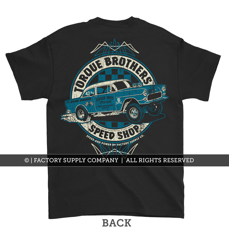Torque Brothers '55 Chevy Gasser Hot Rod T shirt