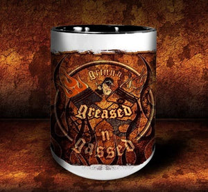 'GGG Flame 'n'  kustom coffee mug - Dirty Monkey Kustoms - 3