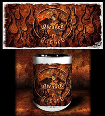 'GGG Flame 'n'  kustom coffee mug - Dirty Monkey Kustoms - 1