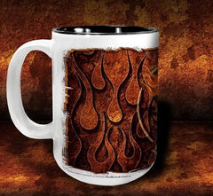 'GGG Flame 'n'  kustom coffee mug - Dirty Monkey Kustoms - 2