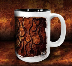 'GGG Flame 'n'  kustom coffee mug - Dirty Monkey Kustoms - 4
