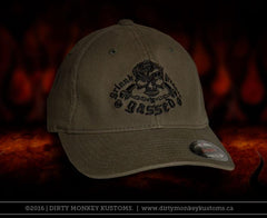 GGG Rockabilly Skull  - Olive color Flex Fit hat