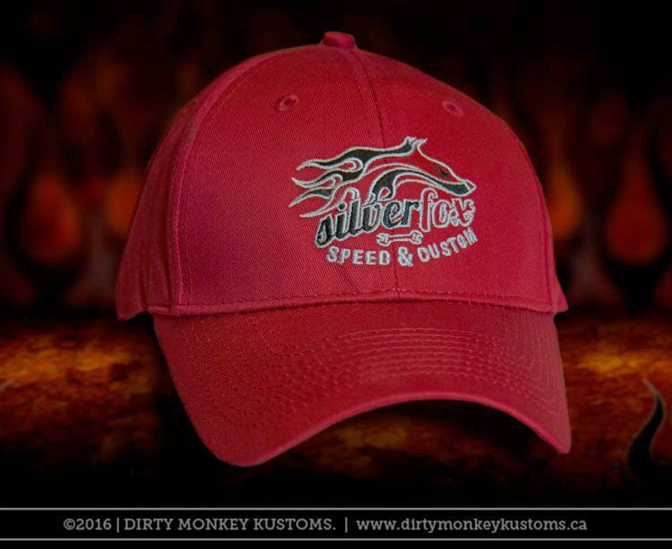 Silver Fox Speed & Custom embroidered hat - red