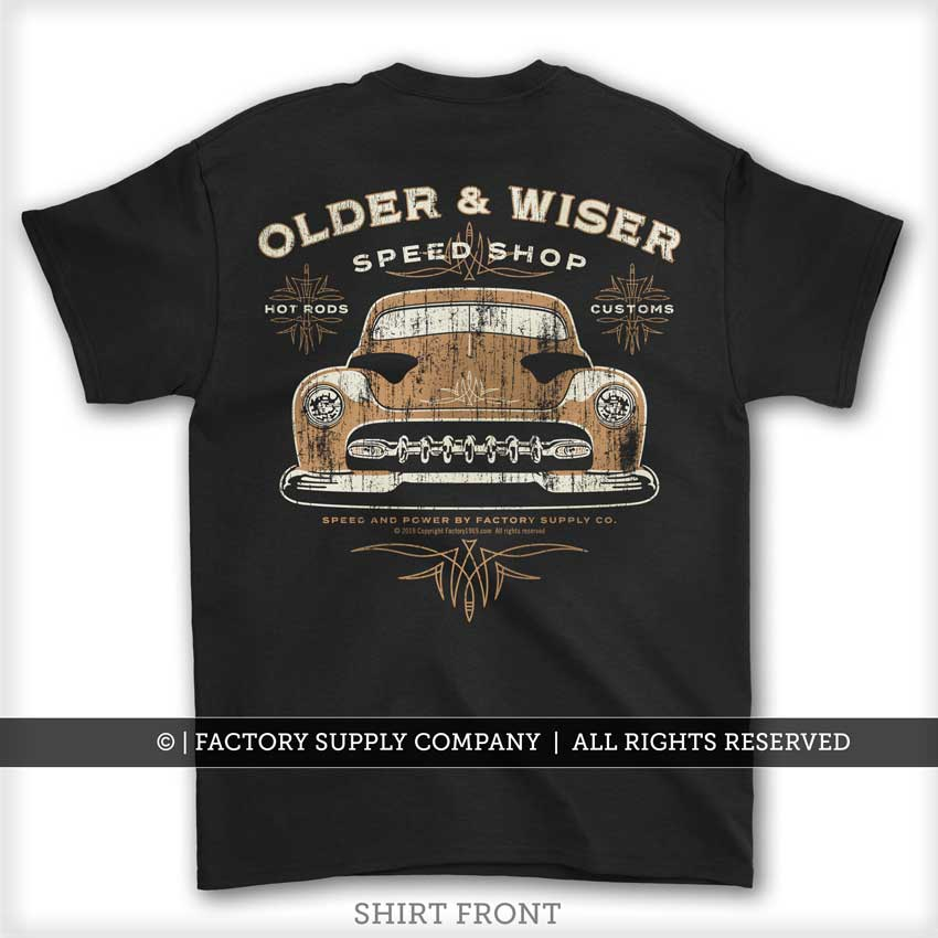 Chopped Merc - Hot Rod T shirt
