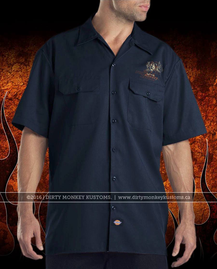 GGG Crossed Pistons mechanic hot rod shirt - NV- © Dirty Monkey Kustoms - front