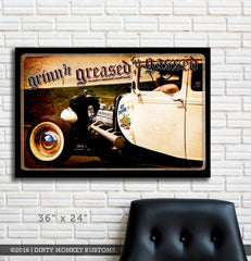 "Kustom "" Rat Poison "" original Hot Rod photo garage banner"