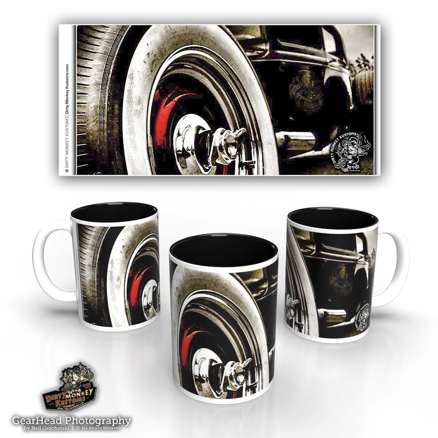 'Ol' Spinner'  hot rod kustom coffee mug