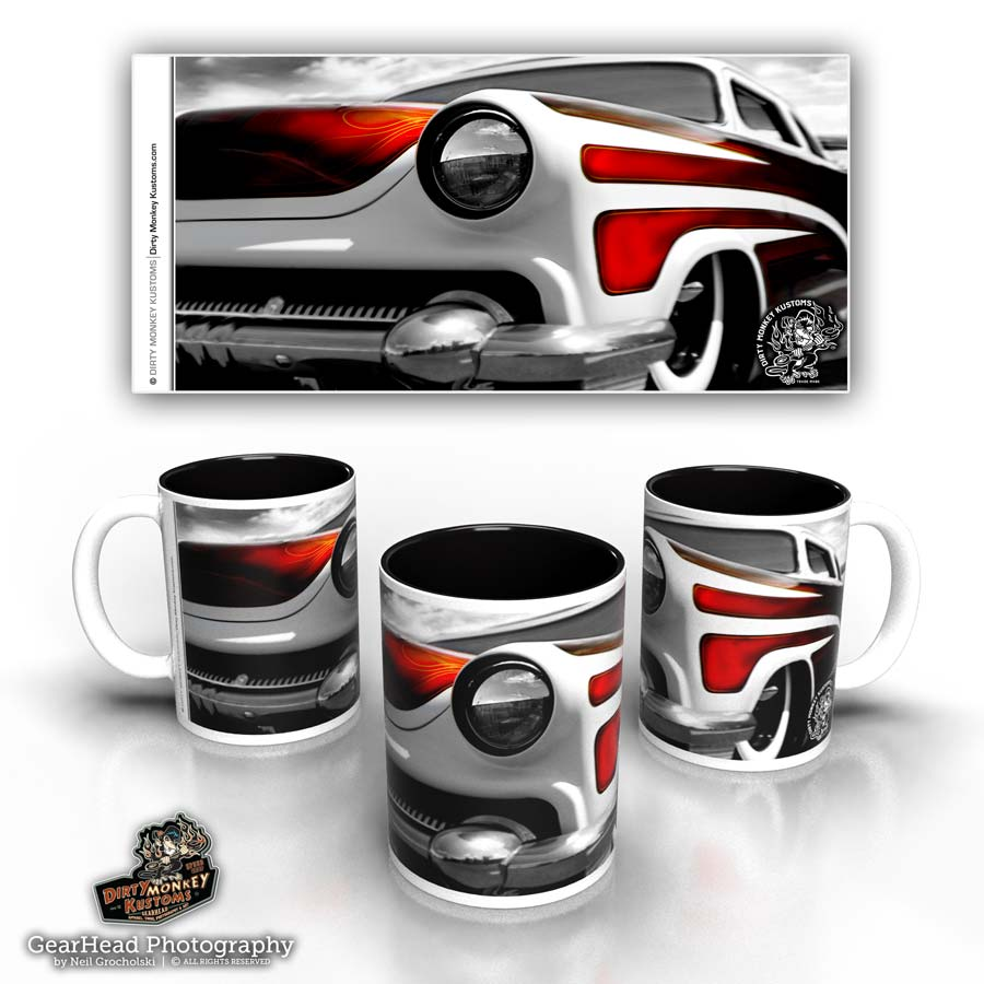 "Kustom hot rod coffee mug - ""Cyclops"""
