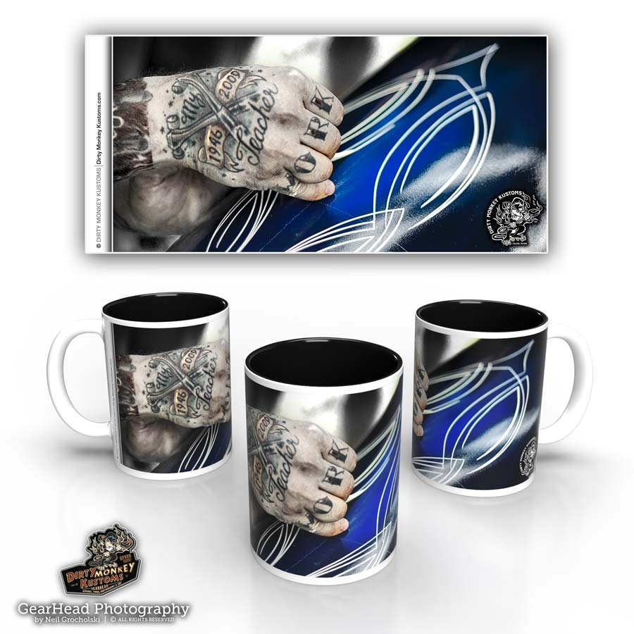 'The Striper'  kustom pin striper coffee mug
