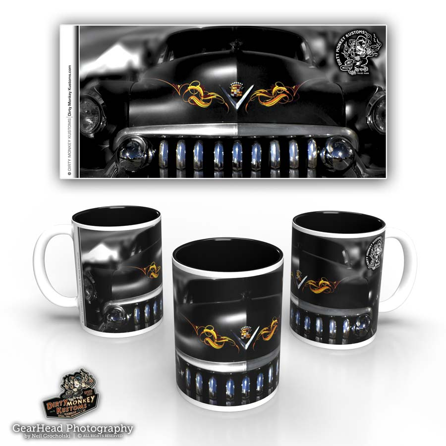 'Grinn'n Caddy'  kustom coffee mug