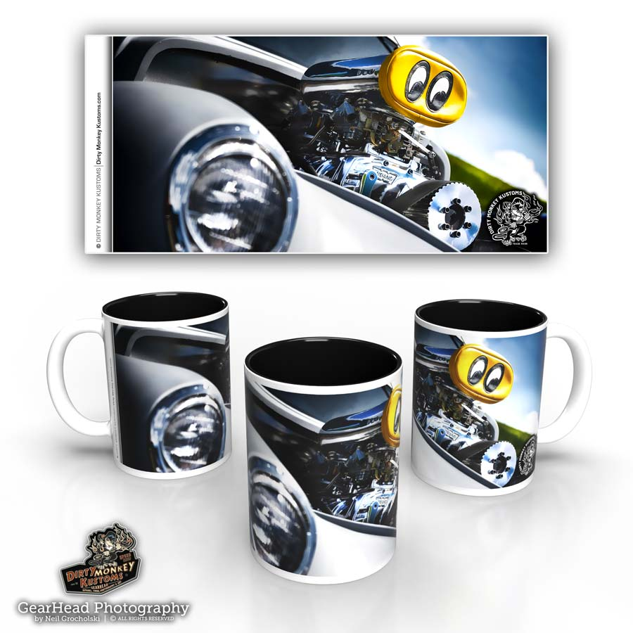 'Moon Eyed'  hot rod coffee mug