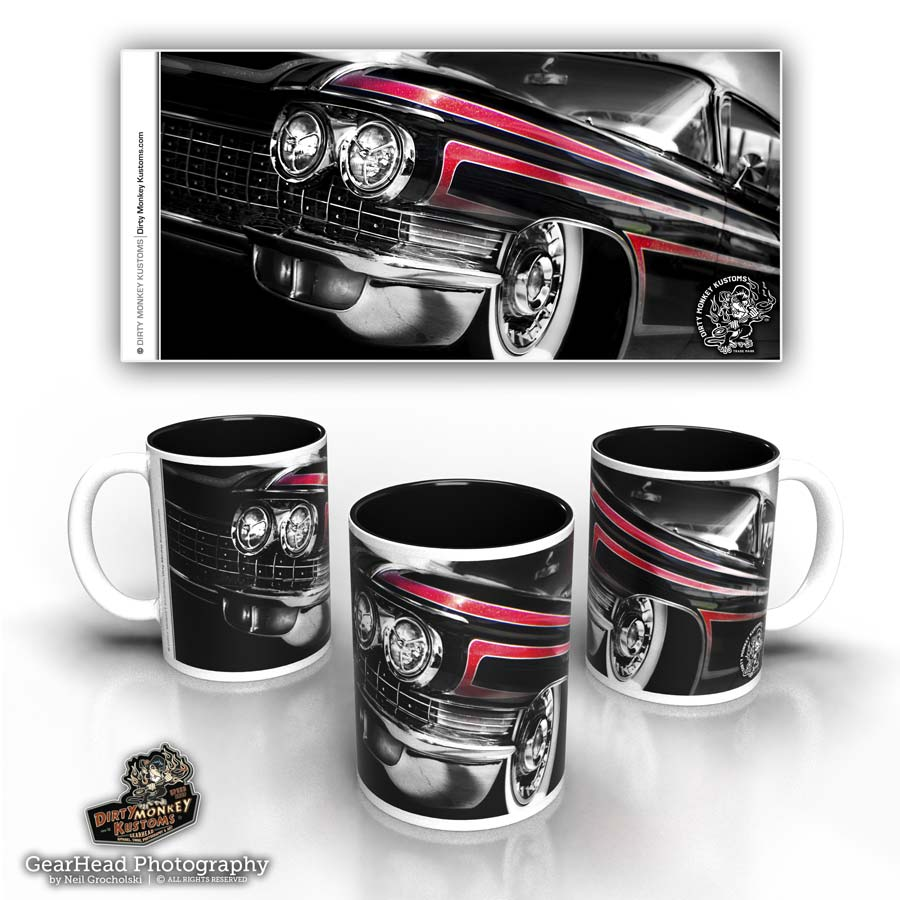 1960 Caddy hot rod coffee mug