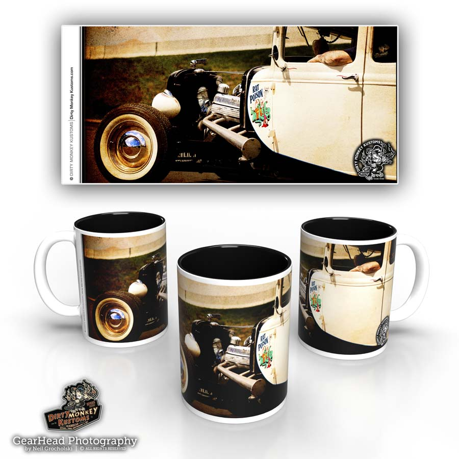 Kustom rat rod coffee mug - 'Rat Poison'