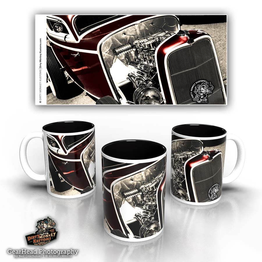 'Deuced' kustom hot rod coffee mug