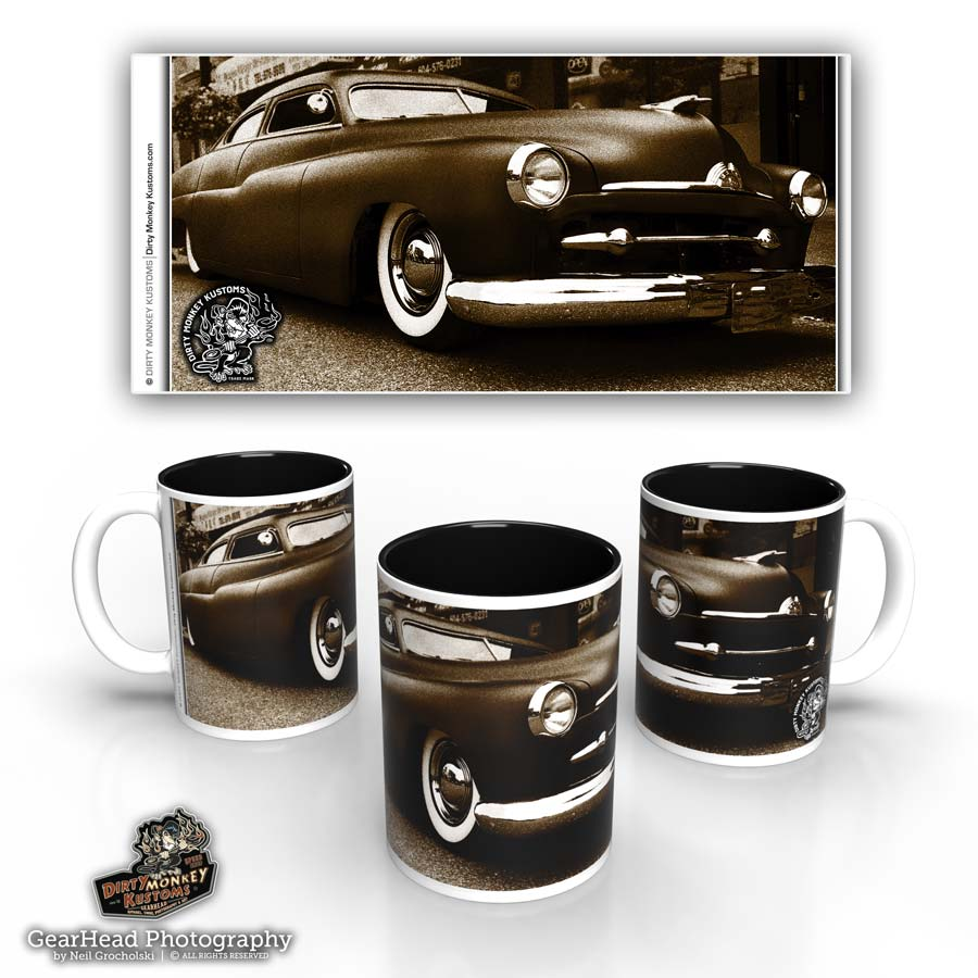 'Slammed Merc' hot rod coffee mug