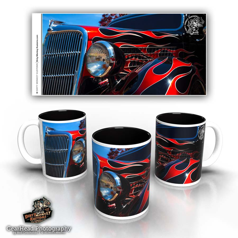 'Black 'N Red' hot rod coffee mug