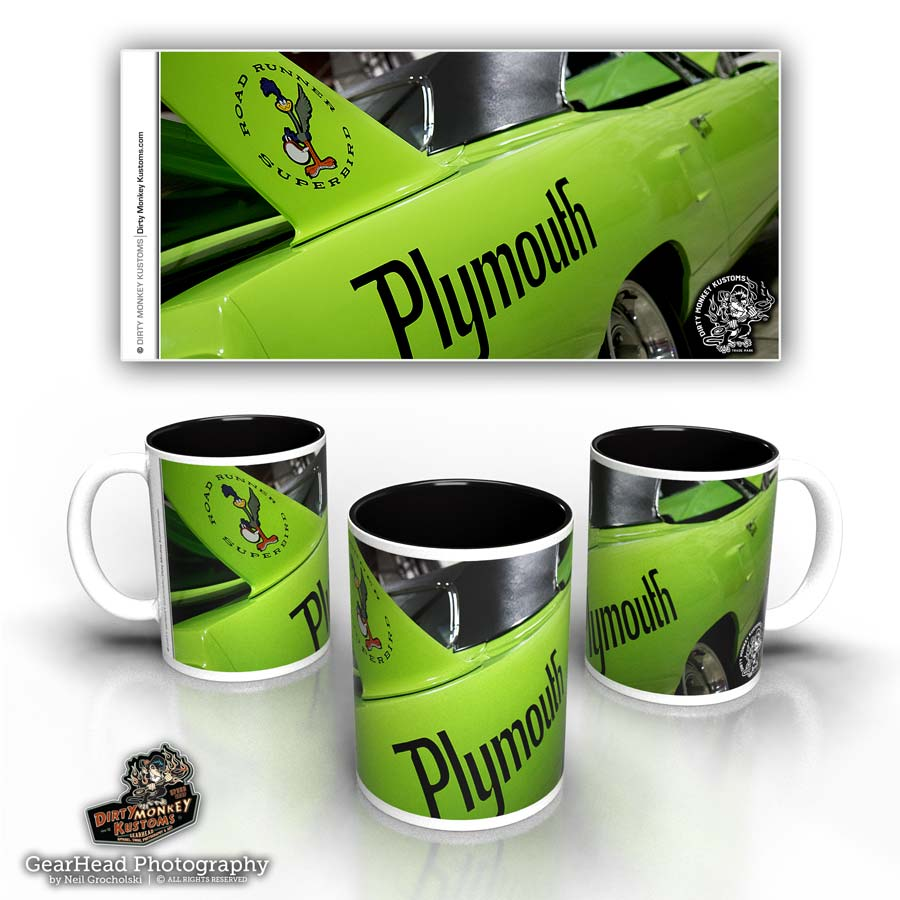 'SuperBird' kustom hot rod coffee mug