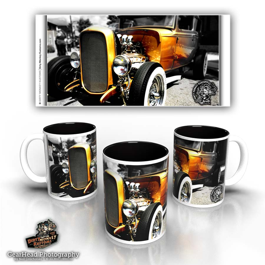 "Hot Rod coffee mug - ""Hot Buttered"""