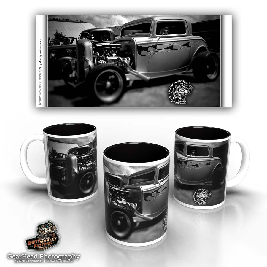 'Silver Streak' hot rod coffee mug