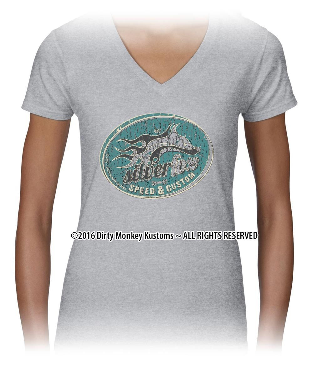 Ladies Hot Rod t shirt - Silver Fox