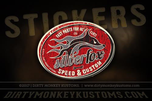 """Silver Fox Speed & Custom"" - Sticker"