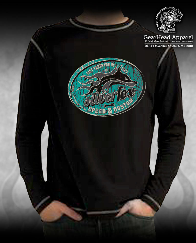 """Silver Fox"" Long Sleeve Hot Rod shirt - Kustom Kool"