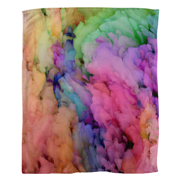Multicolor Ethereal Fleece Blanket