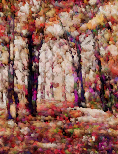 Autumn View Abstract Fine Art Print